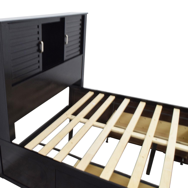 buy Bobs Furniture Dalton Espresso Storage Full Bed Bobs Furniture