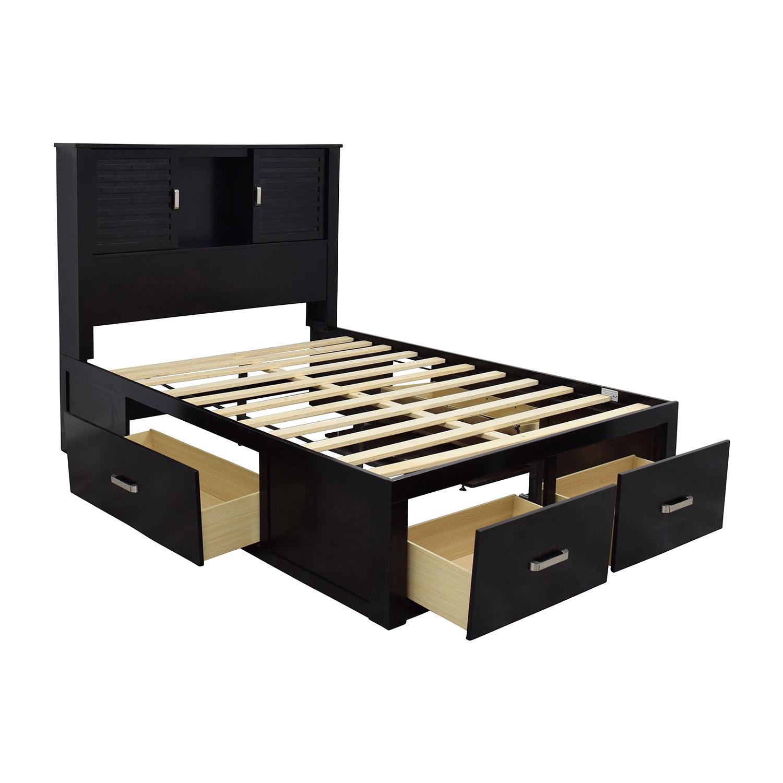 Bobs Furniture Bobs Furniture Dalton Espresso Storage Full Bed used