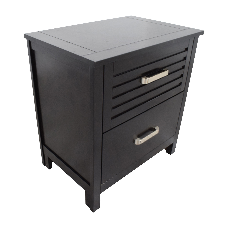 Bobs Furniture Dalton Espresso Two-Drawer Nightstand sale