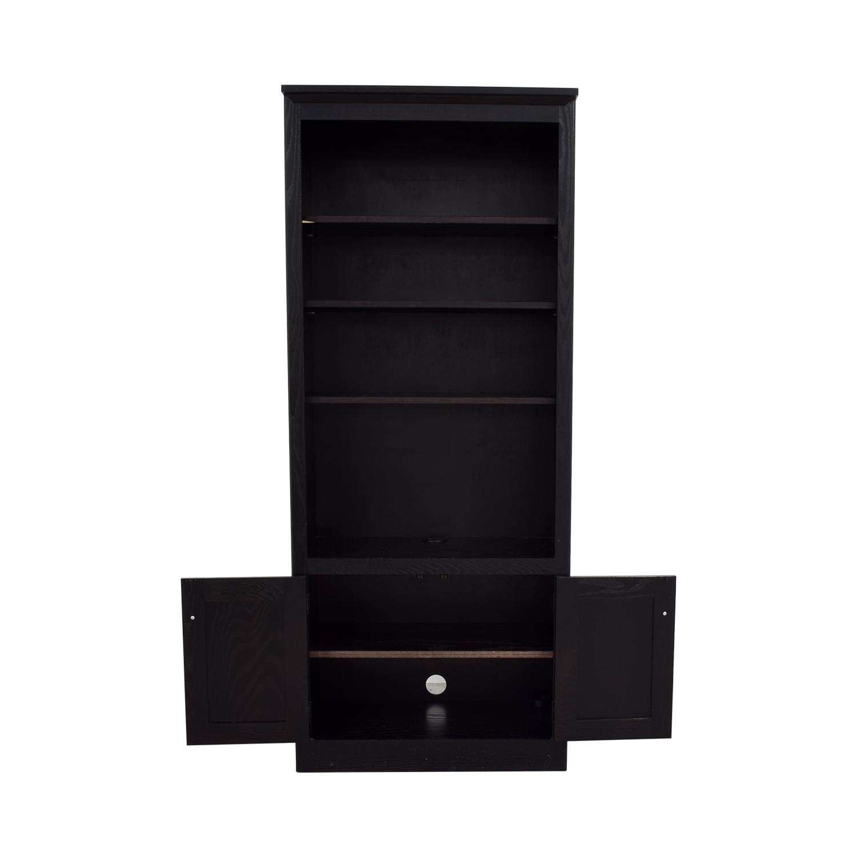 Pottery Barn Espresso Bookshelf with Cabinet / Storage