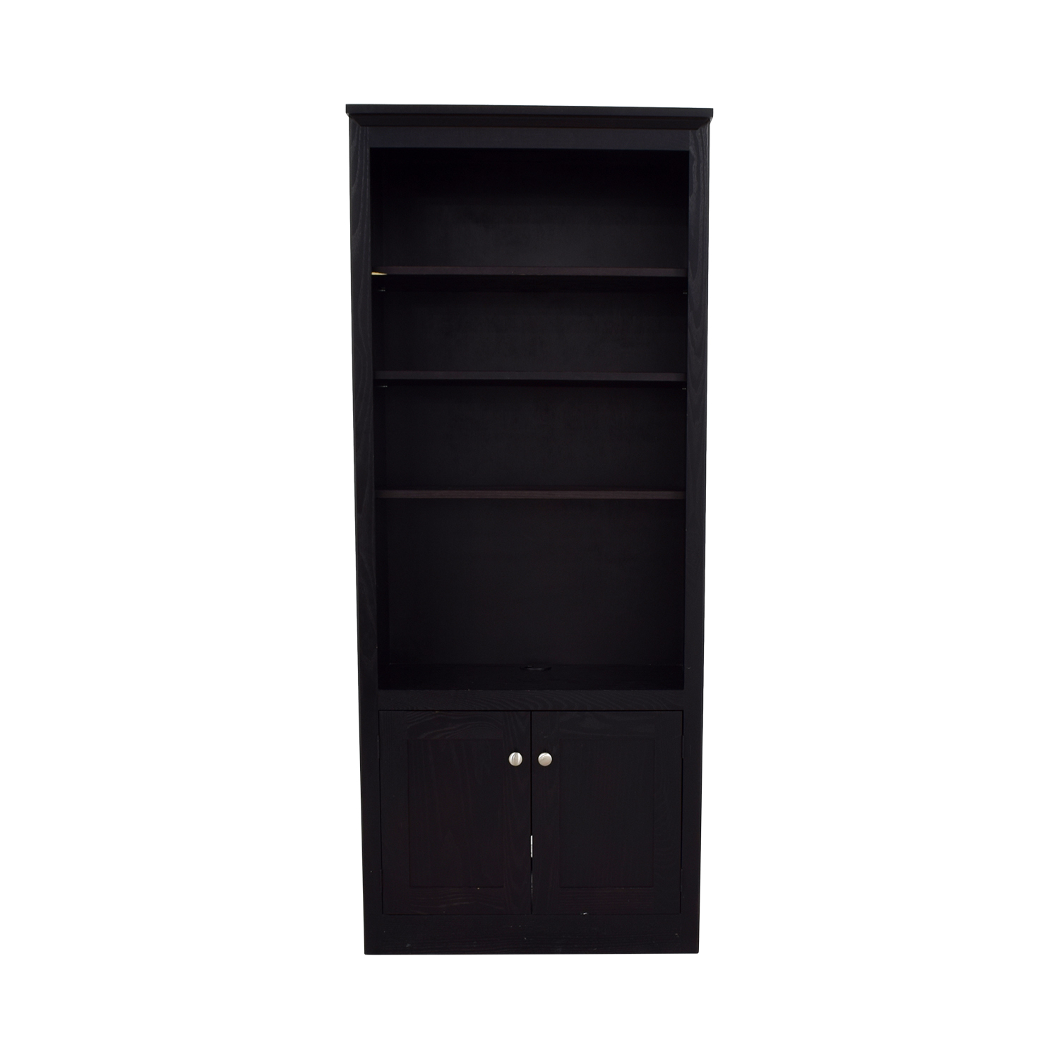 Pottery Barn Pottery Barn Espresso Bookshelf with Cabinet second hand