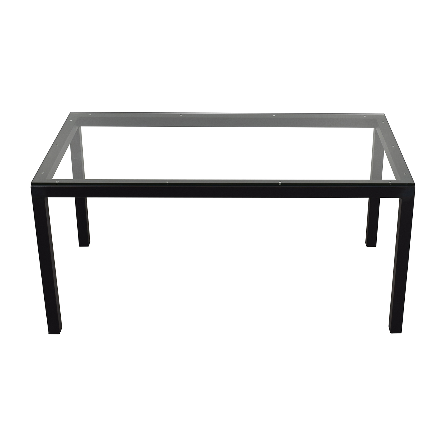 shop Room & Board Room & Board Rectangle Metal Glass Dining Table online