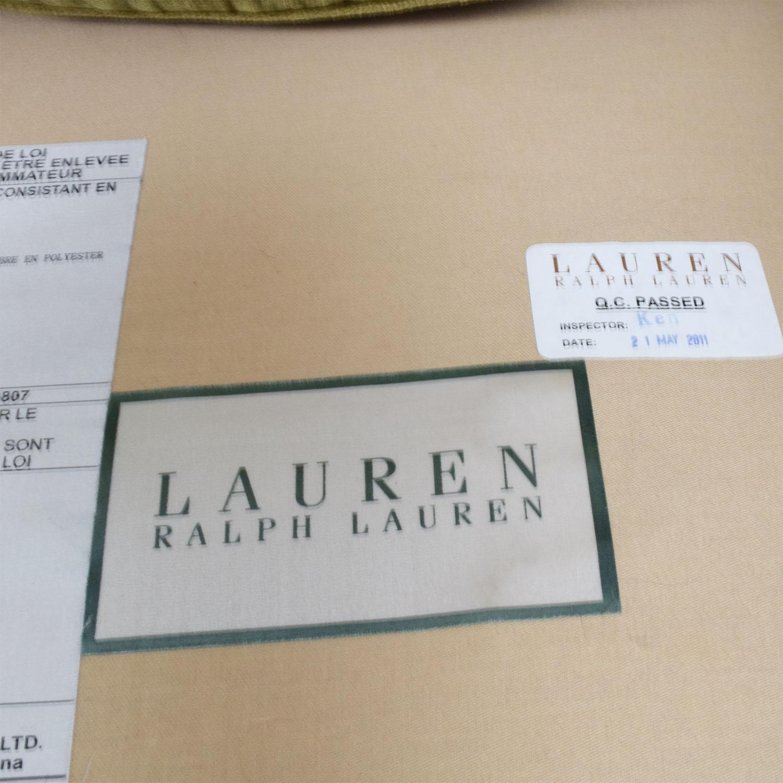 Ralph Lauren Ralph Lauren Green Velvet Loveseat dimensions