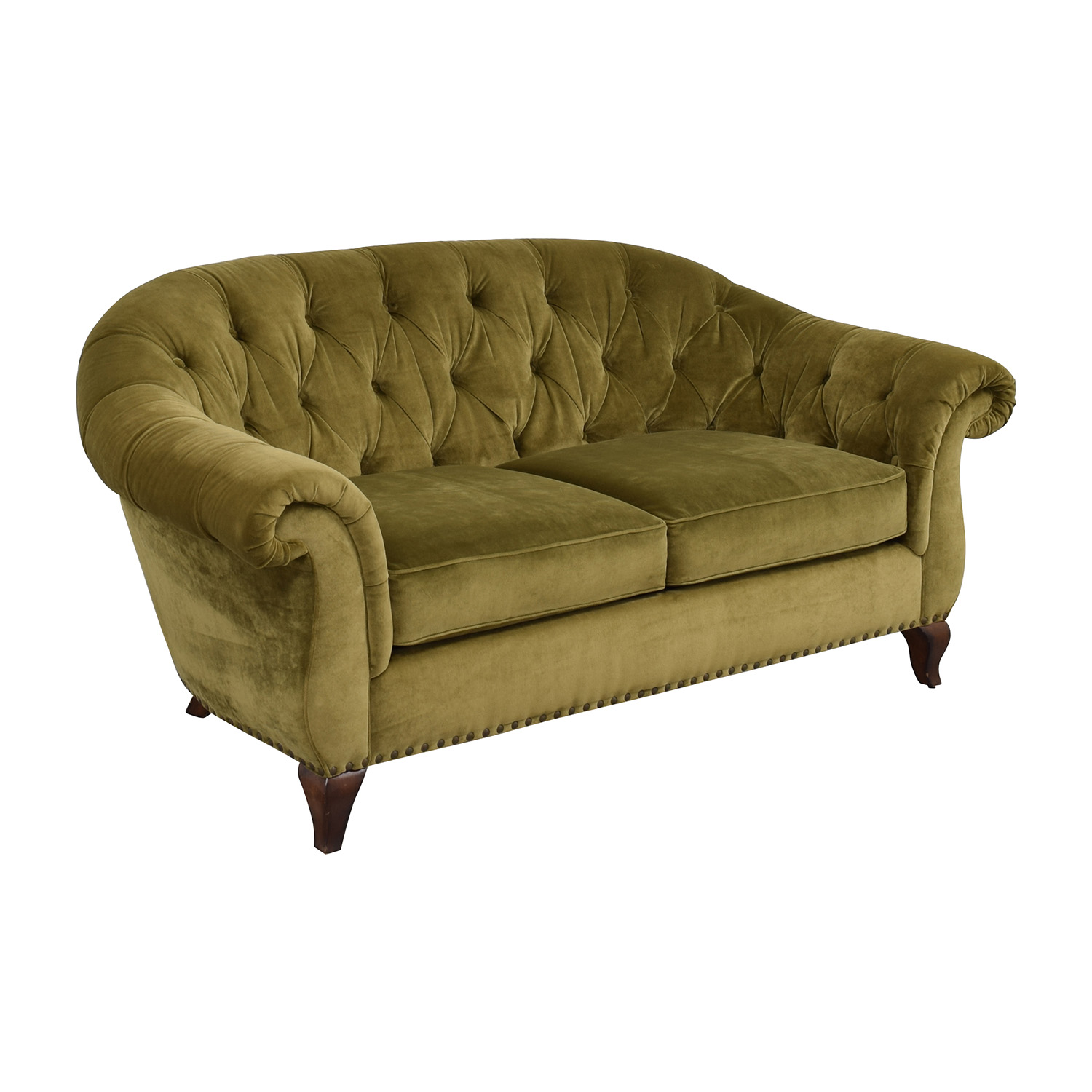Marvelous ... Buy Ralph Lauren Ralph Lauren Green Velvet Loveseat Online ...