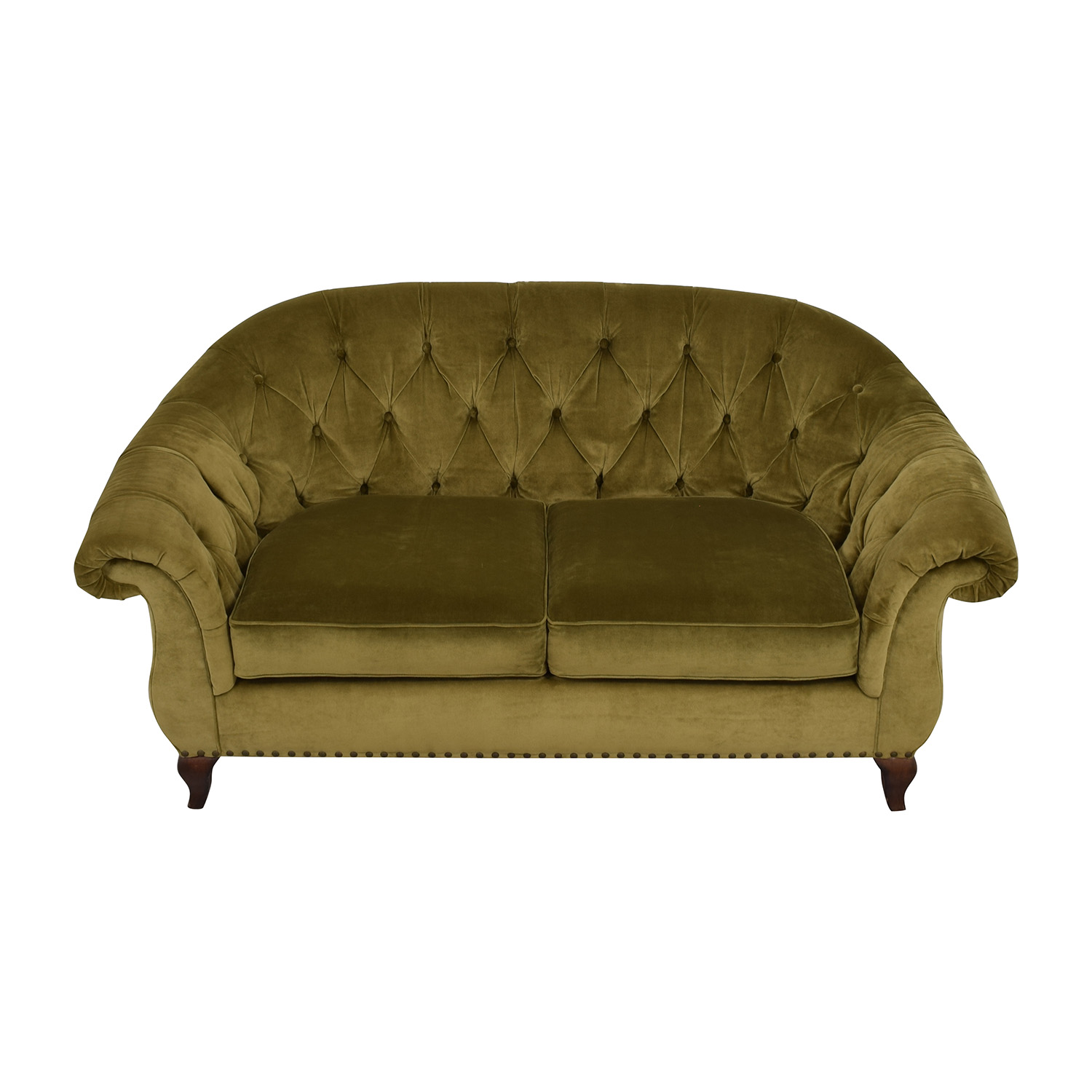 ... Ralph Lauren Ralph Lauren Green Velvet Loveseat Second Hand ...