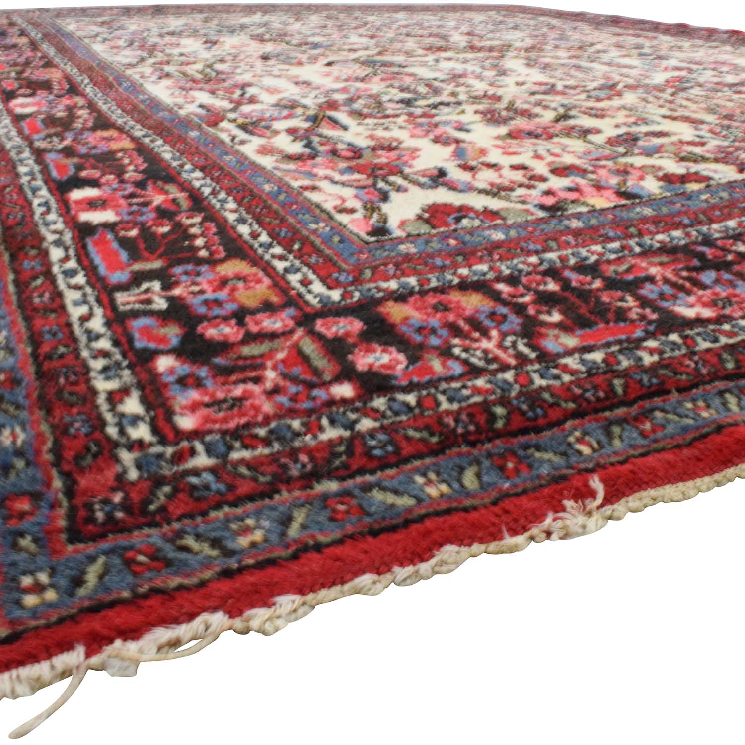 Handmade Vintage Red Persian Rug / Decor