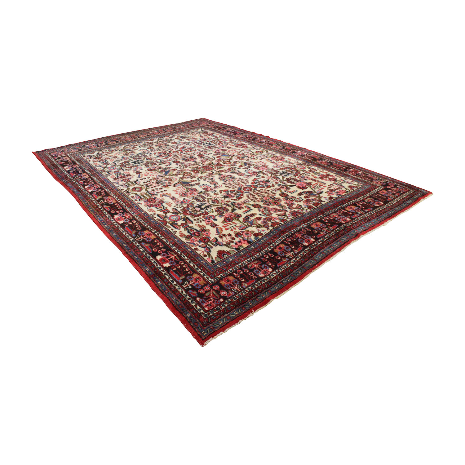 shop Handmade Vintage Red Persian Rug  Decor