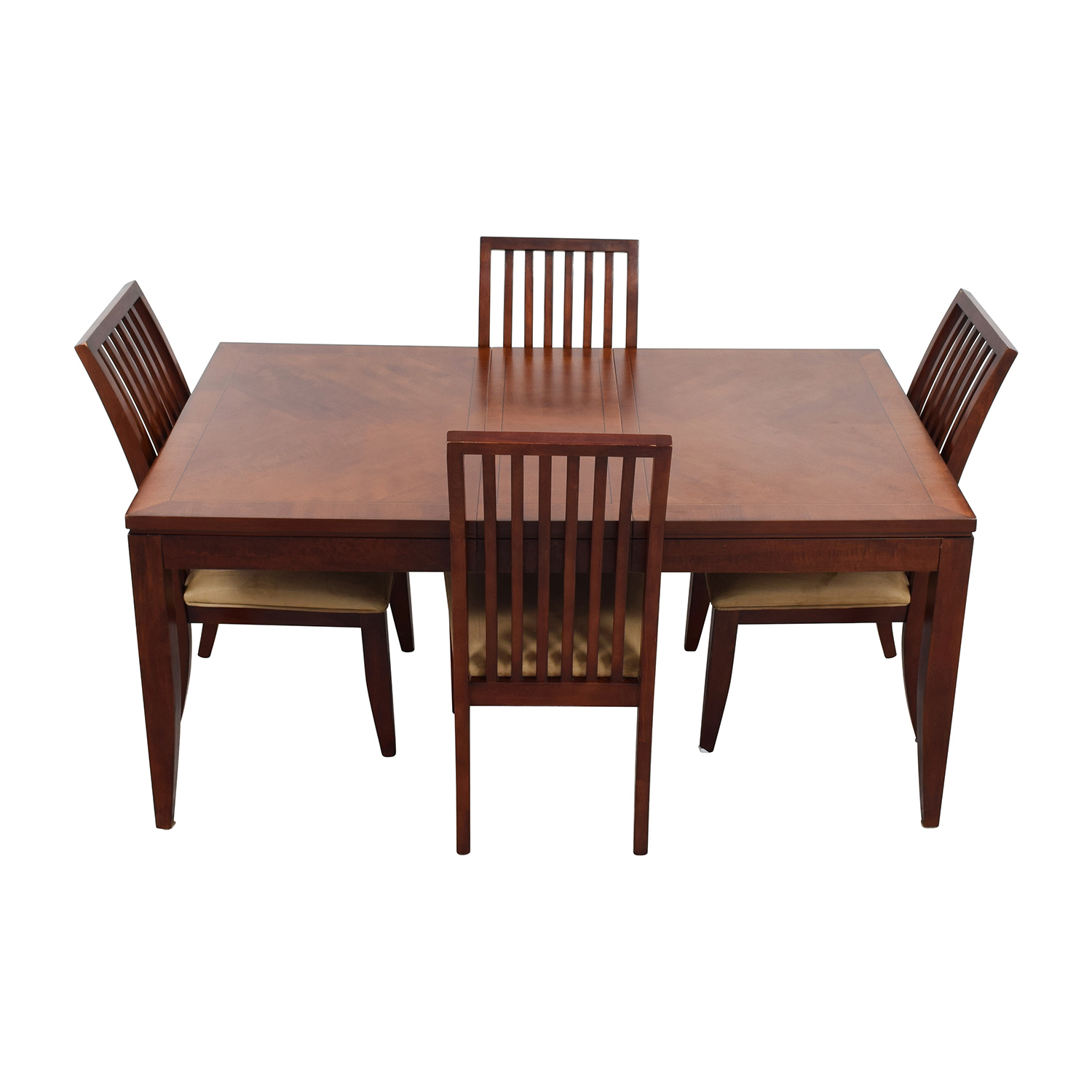 84 off macy 39 s macy 39 s metropolitan dining set with four for Dinner table set for 4