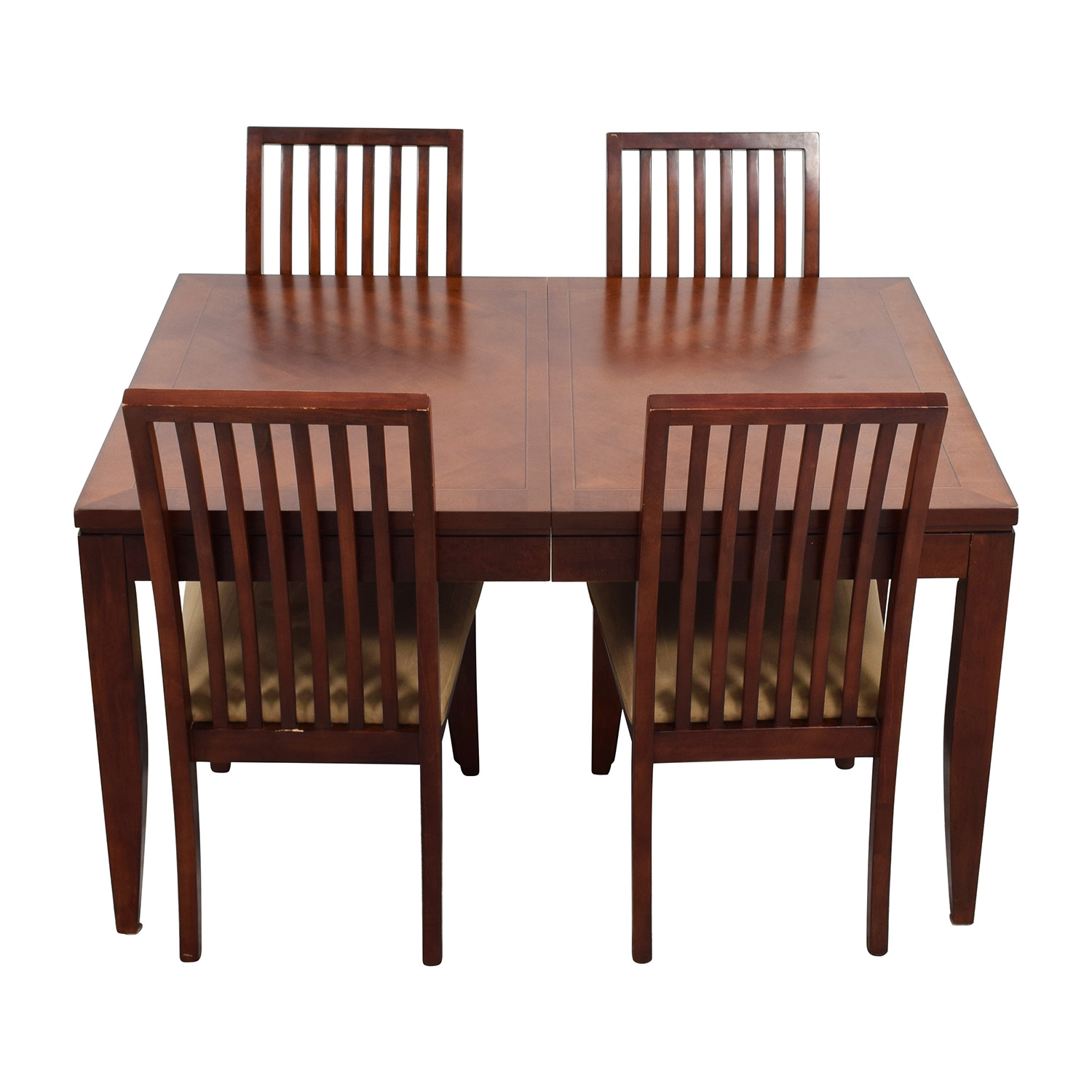 83 OFF Macys Macys Metropolitan Dining Set with Four Chairs