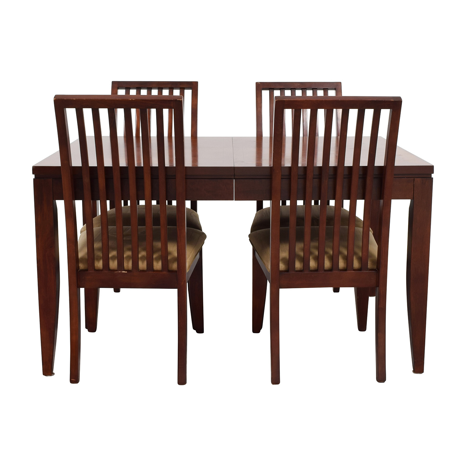 shop Macys Metropolitan Dining Set with Four Chairs Macys Tables