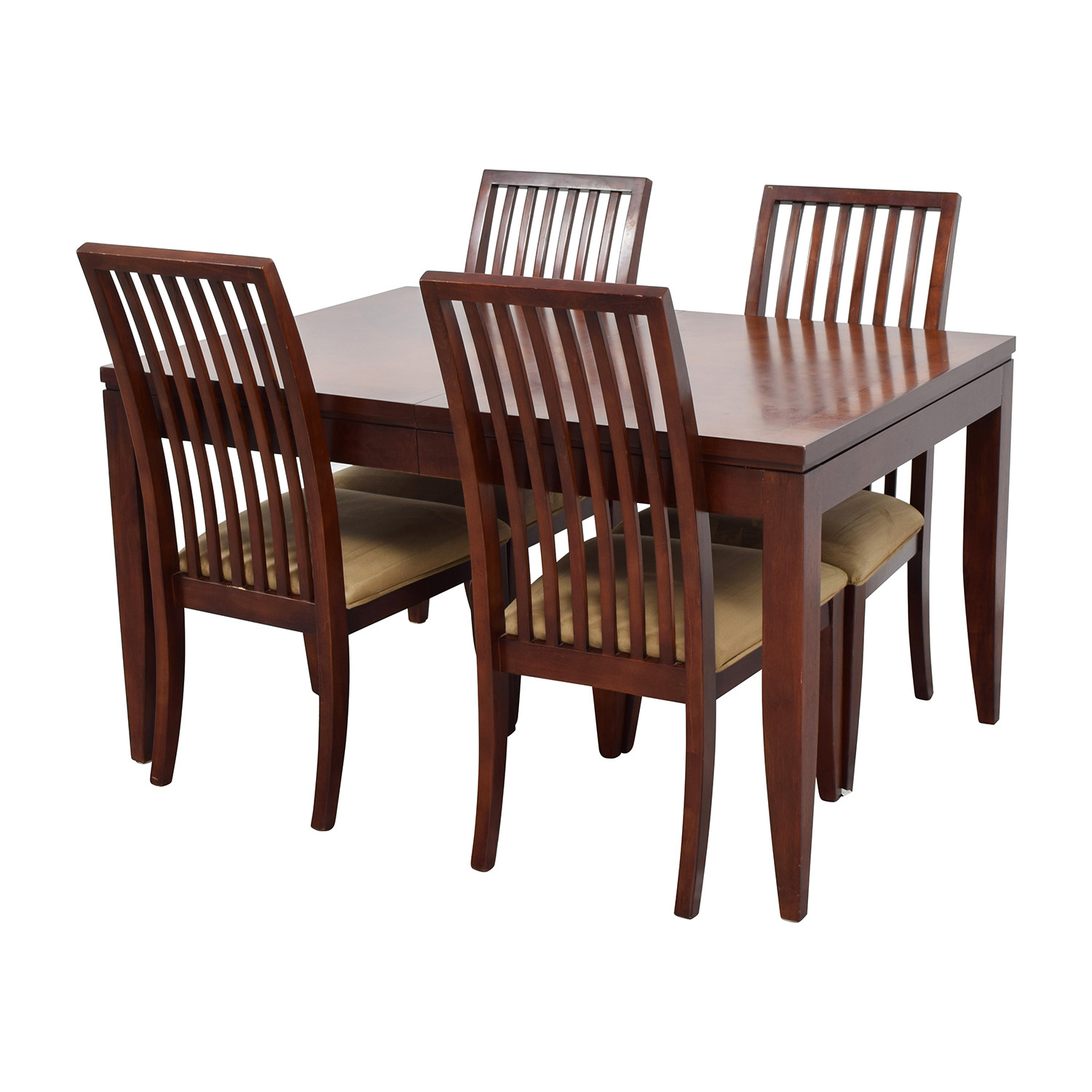 Macys Macys Metropolitan Dining Set with Four Chairs for sale