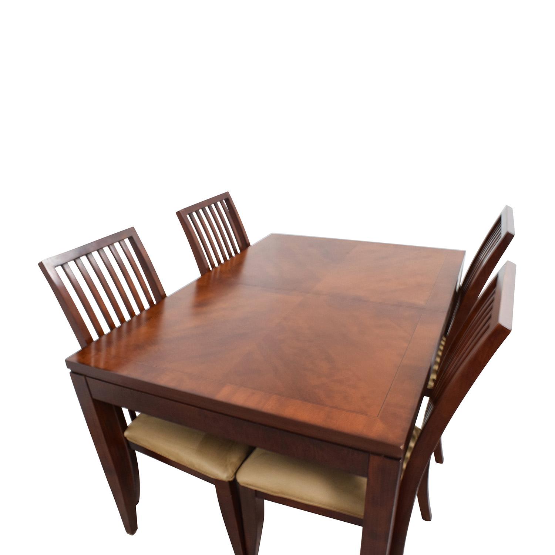 ... Shop Macyu0027s Metropolitan Dining Set With Four Chairs Macyu0027s ...