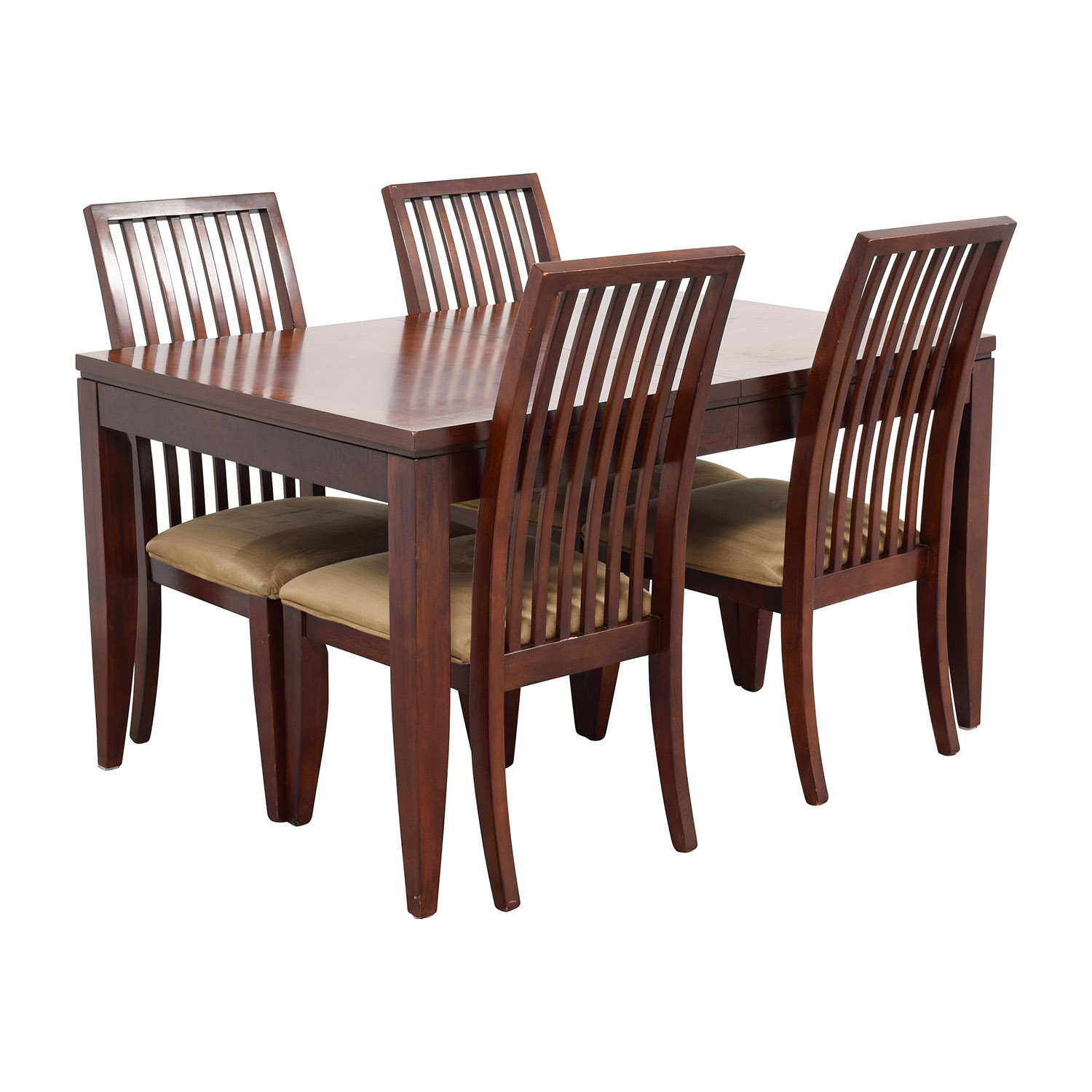 Macys Macys Metropolitan Dining Set with Four Chairs Brown