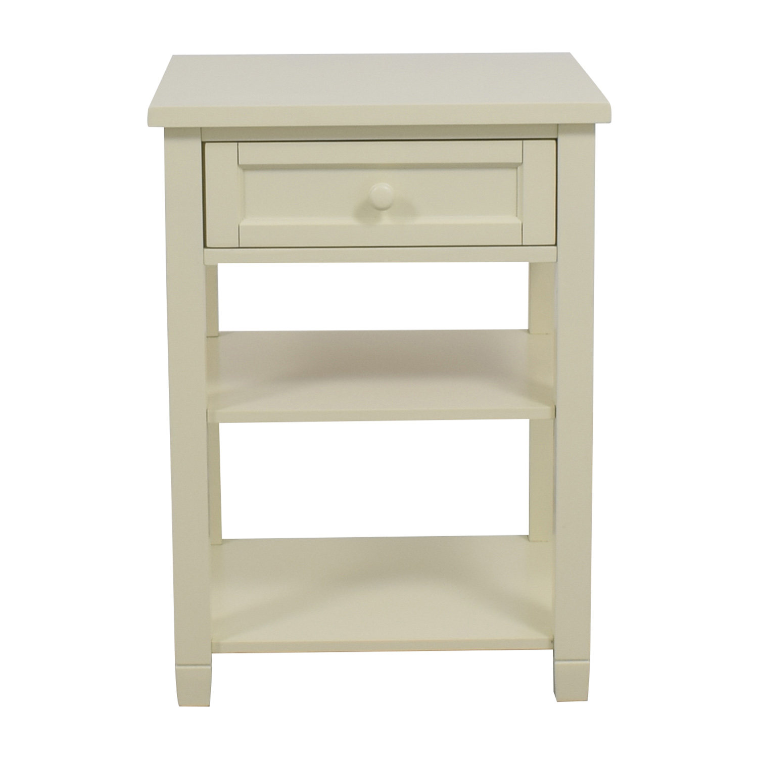 OFF Pottery Barn Pottery Barn Beadboard Bedside Table Tables - Pottery barn white bedside table