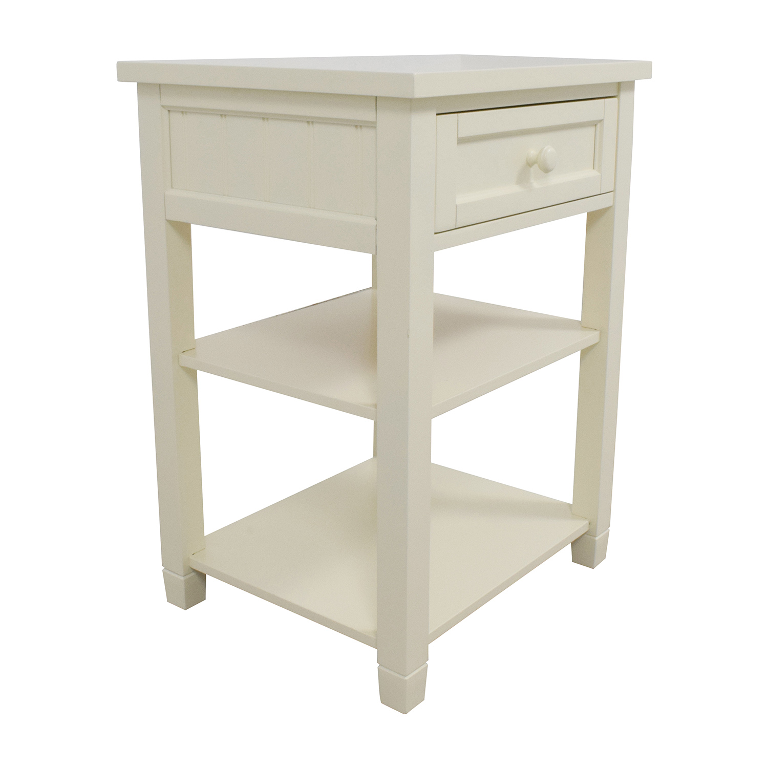 88% OFF Pottery Barn Pottery Barn Beadboard Bedside Table Tables