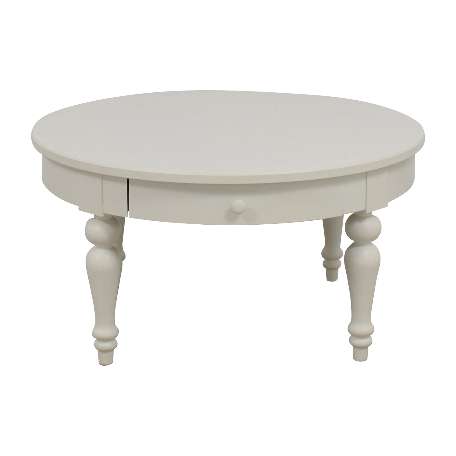 66% OFF IKEA IKEA White Round Coffee Table Tables