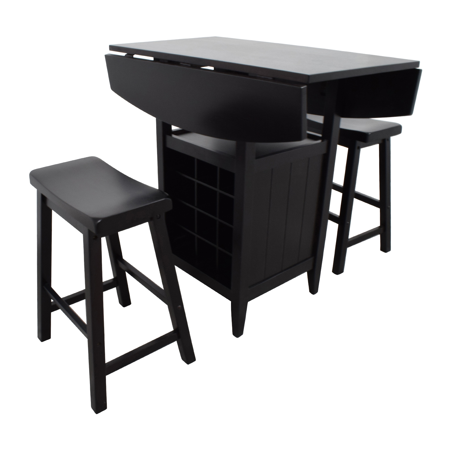 shop Dinette Wood Table with Storage with Two Stools online