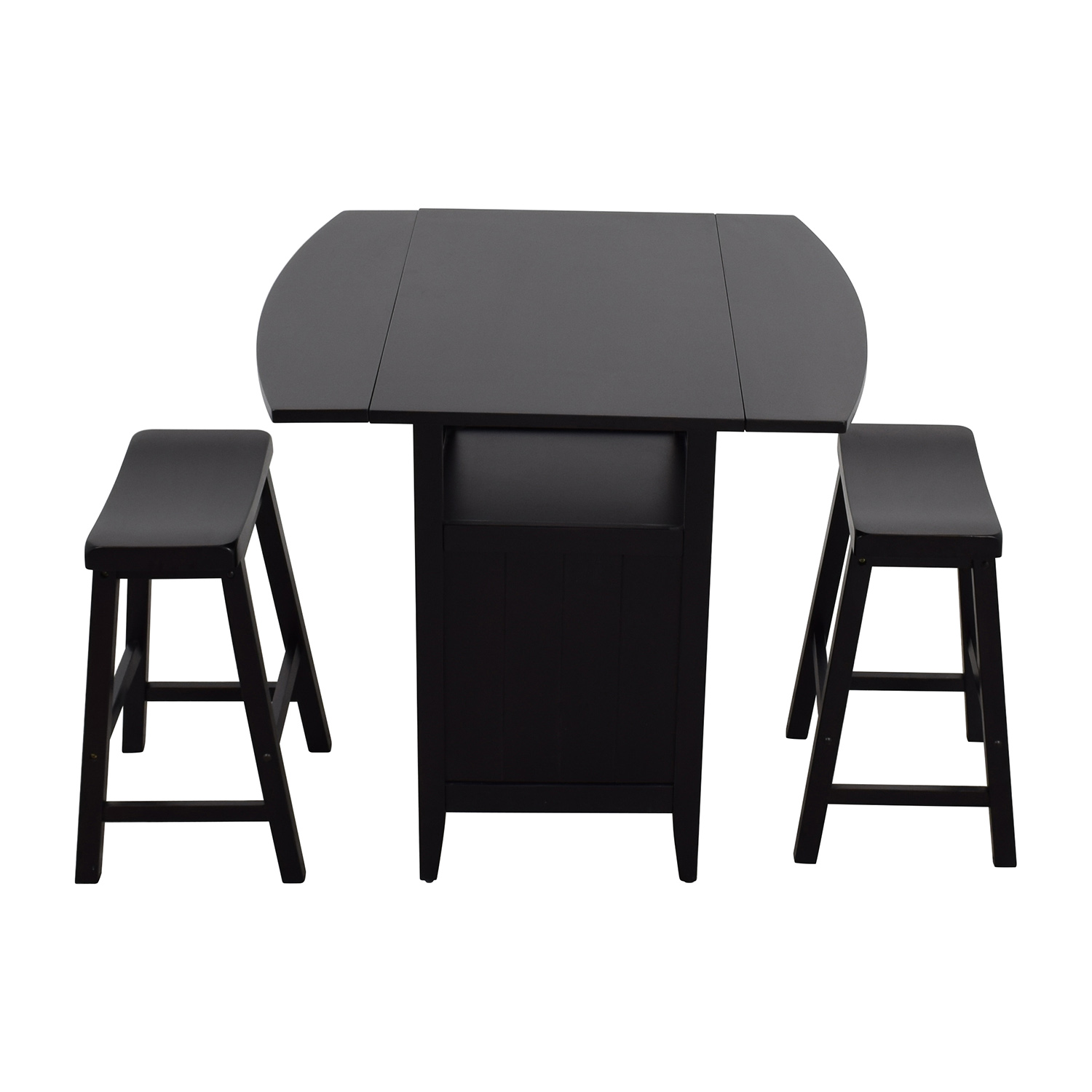 Dinette Wood Table with Storage with Two Stools