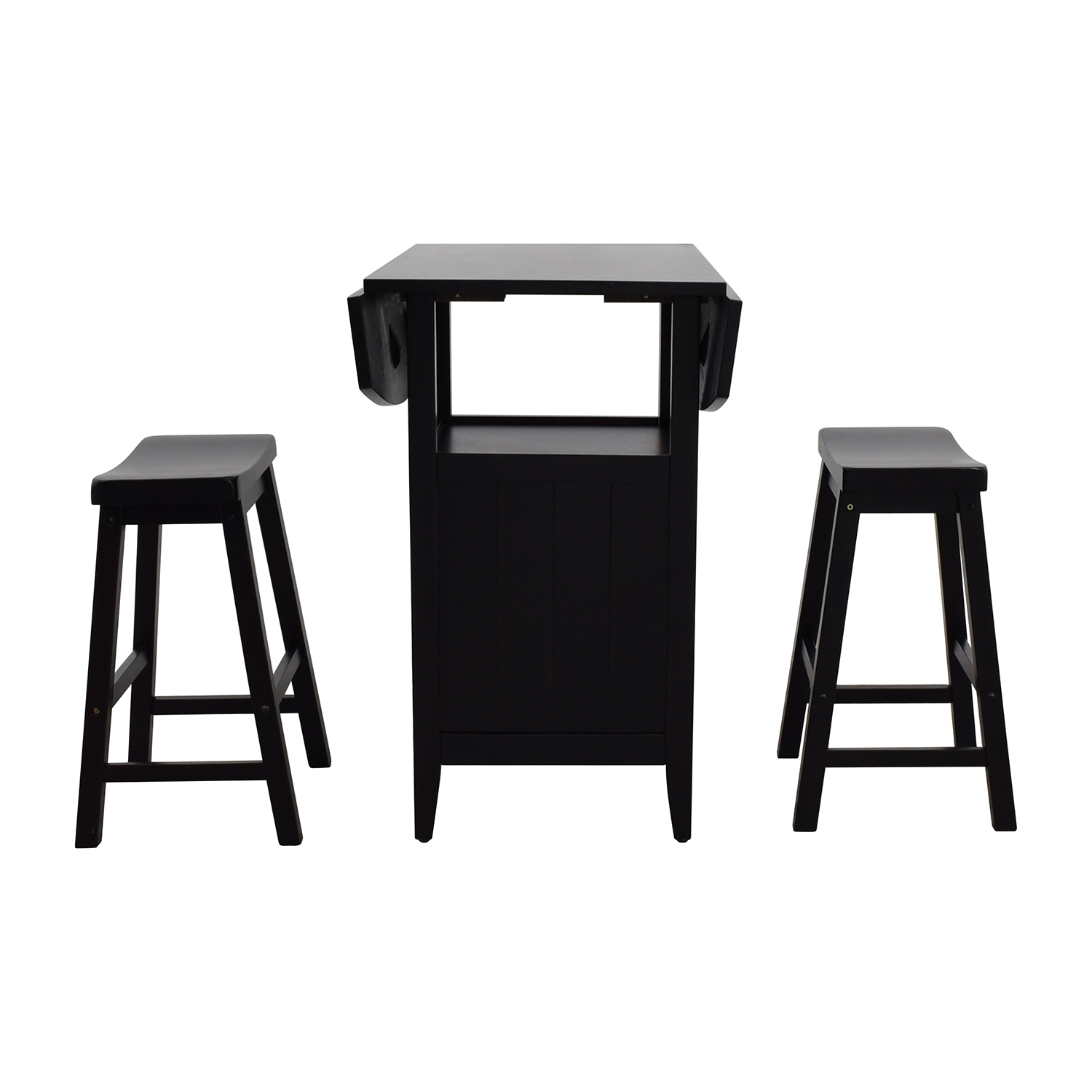Dinette Wood Table with Storage with Two Stools discount