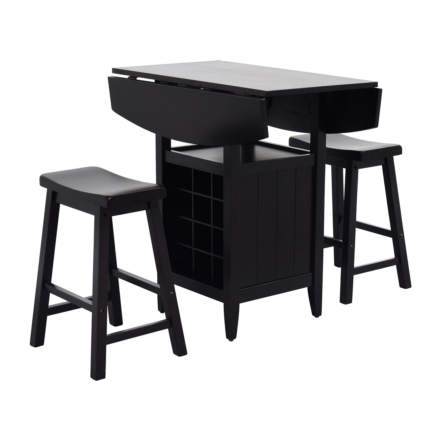 buy Dinette Wood Table with Storage with Two Stools online