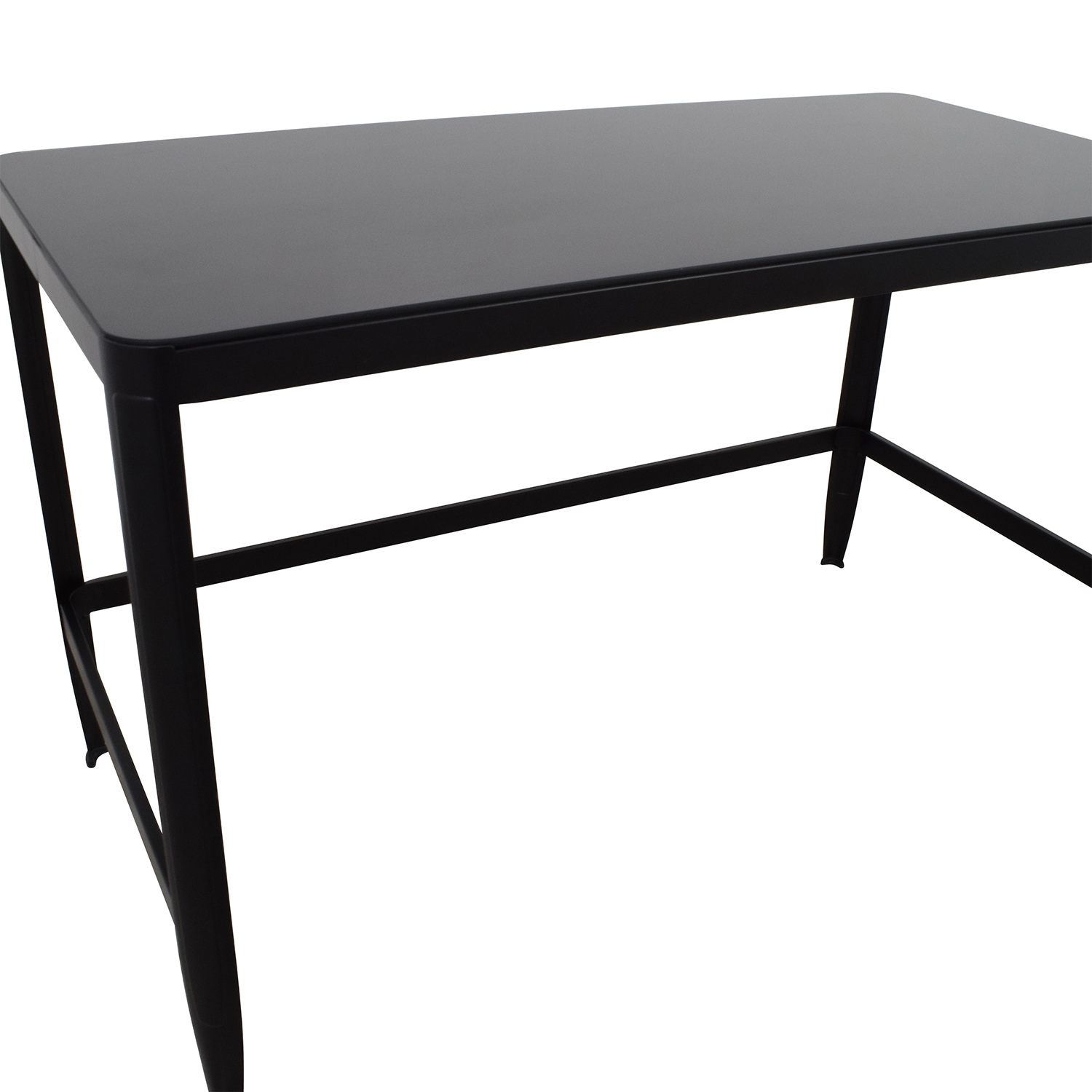 Buy Black Glass And Black Metal Square Side Table From: Modern Black Metal Table With Glass Top / Tables