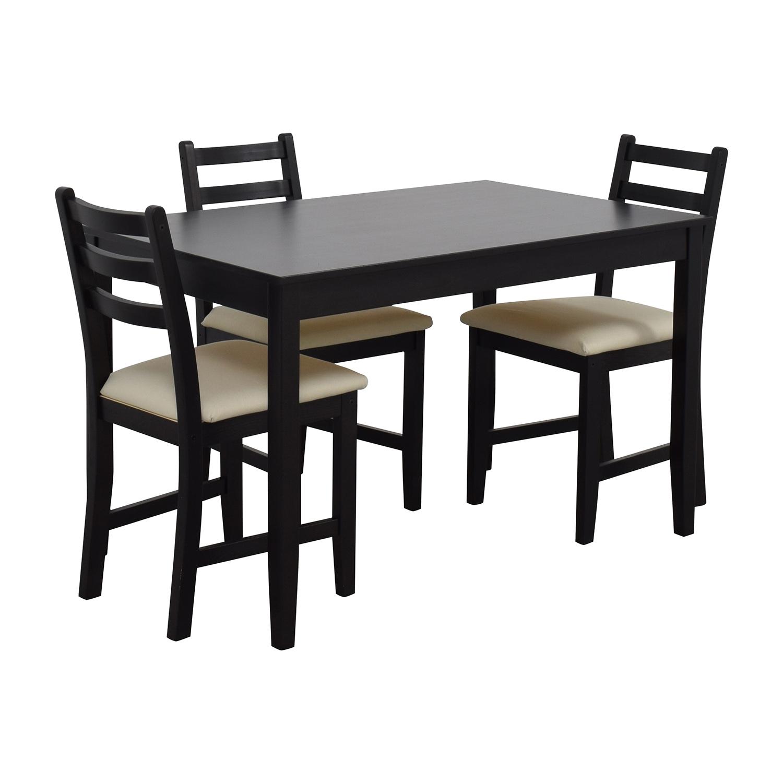 IKEA Wood Dining Set with Three Chairs IKEA
