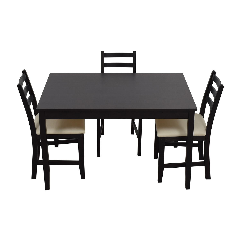 IKEA IKEA Wood Dining Set with Three Chairs