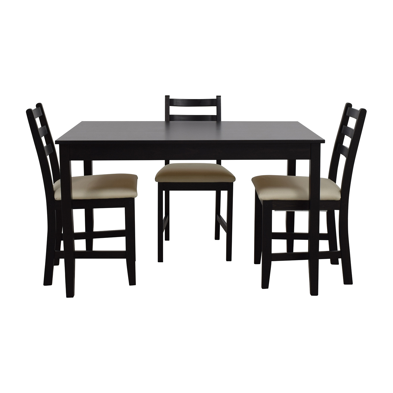IKEA IKEA Wood Dining Set with Three Chairs dimensions
