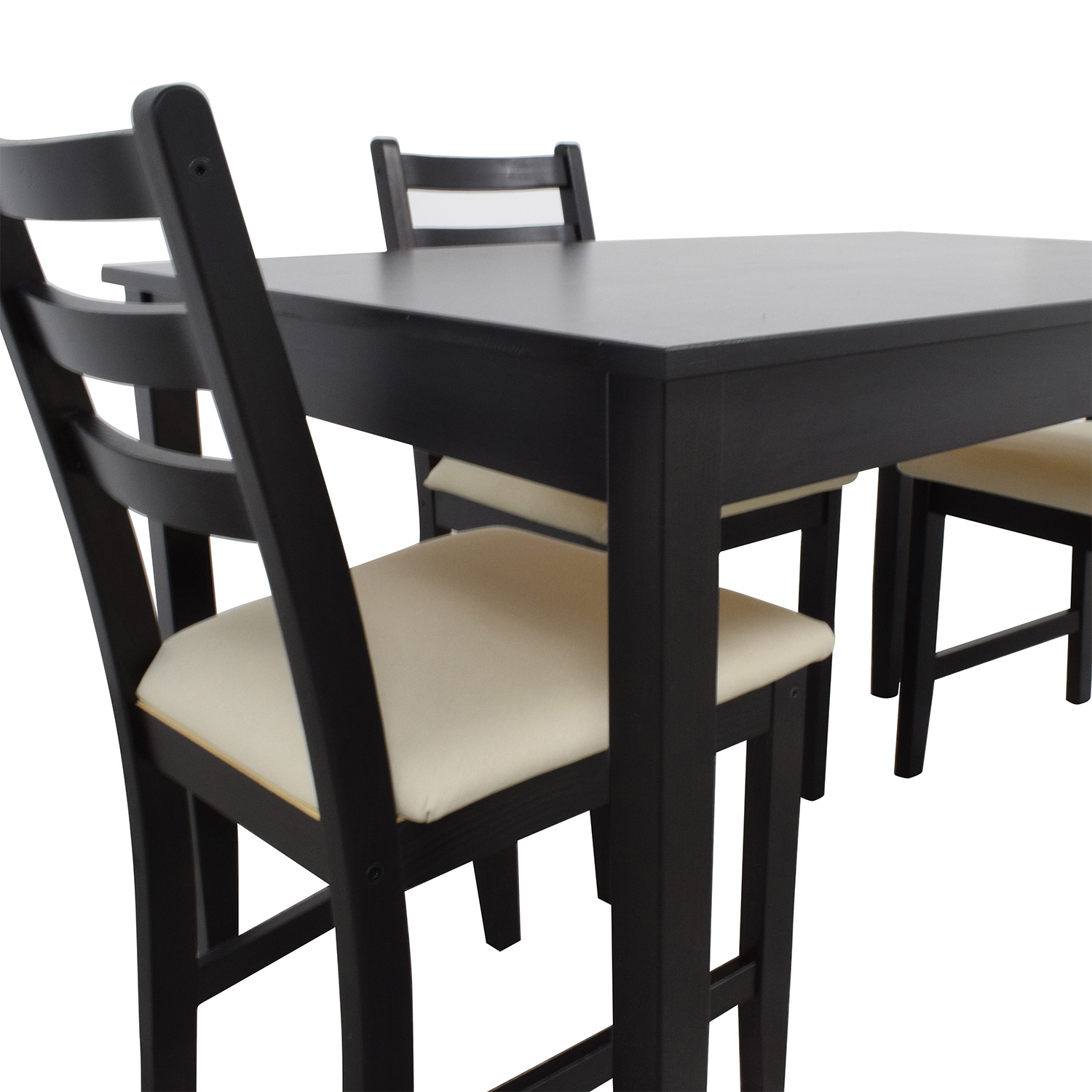 IKEA Wood Dining Set with Three Chairs / Dining Sets