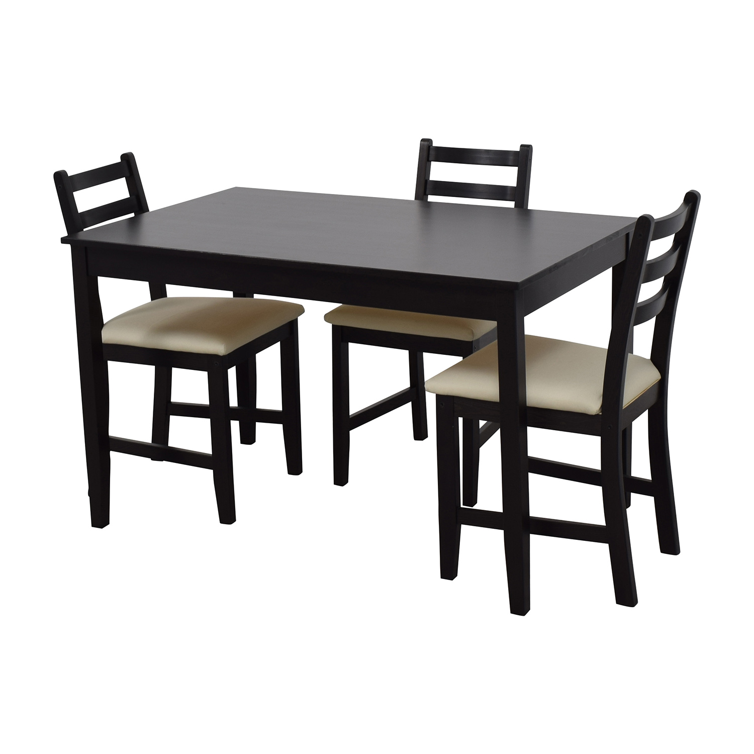 Ikea Wood Dining Set With Three Chairs Tables