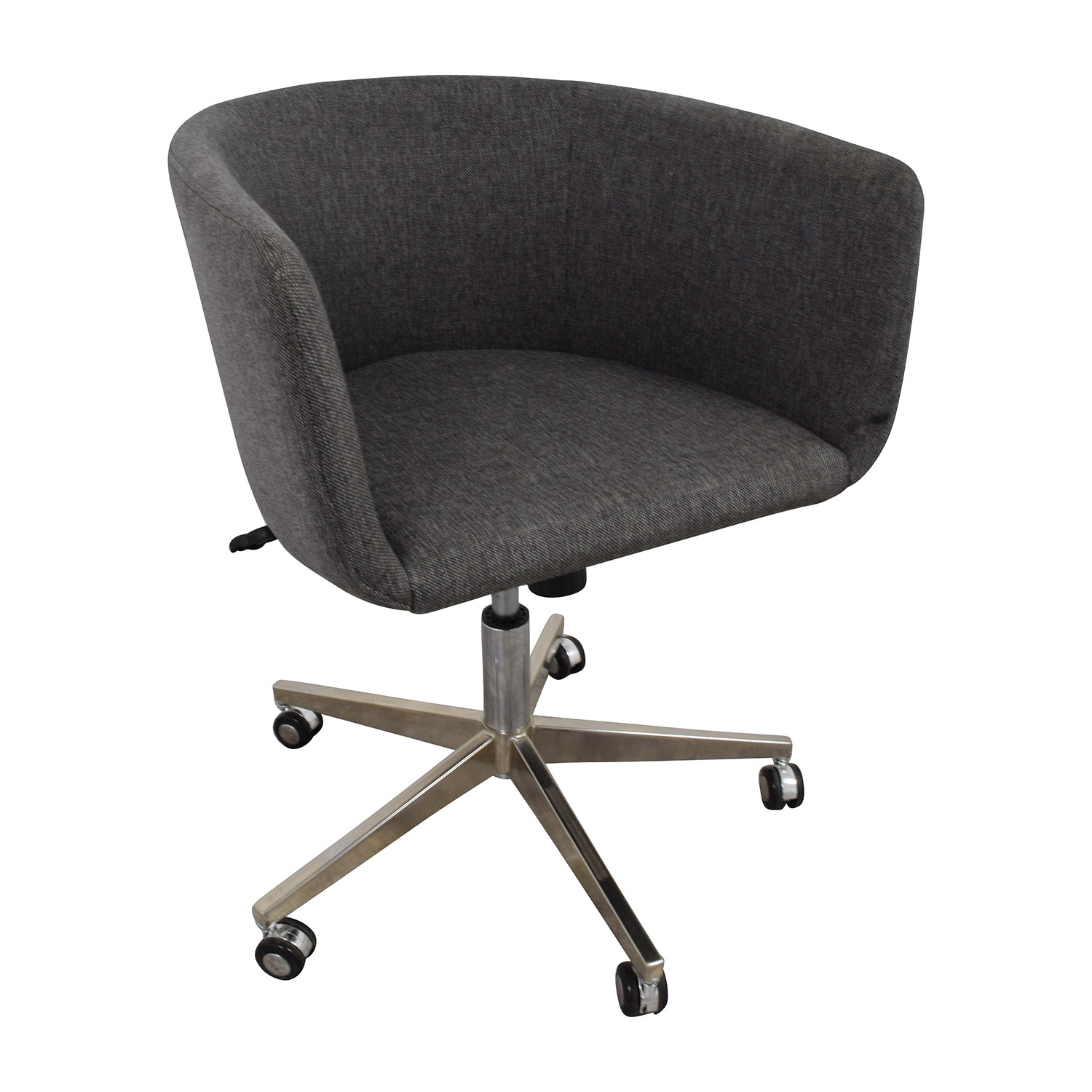 OFF Modern Grey fice Chair with Chrome Wheels Chairs
