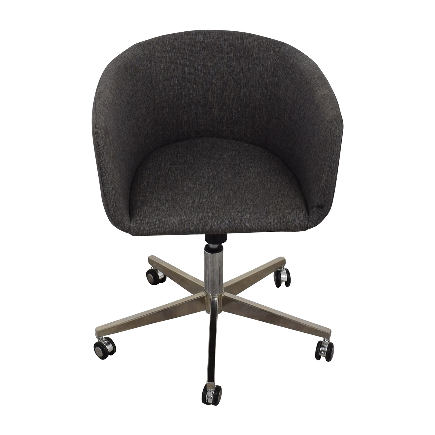 80 Off Modern Grey Office Chair With Chrome Wheels Chairs