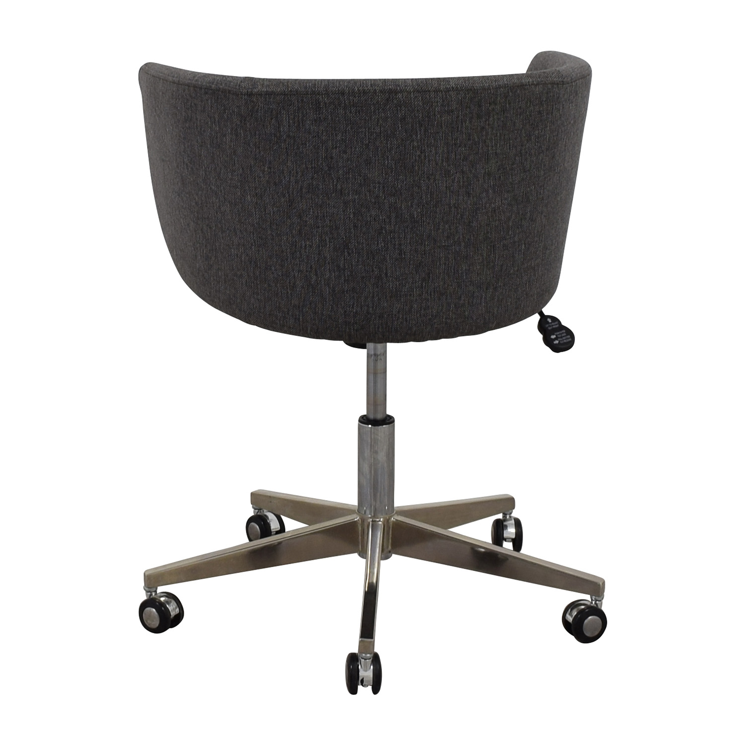 Modern Grey Office Chair with Chrome Wheels nyc