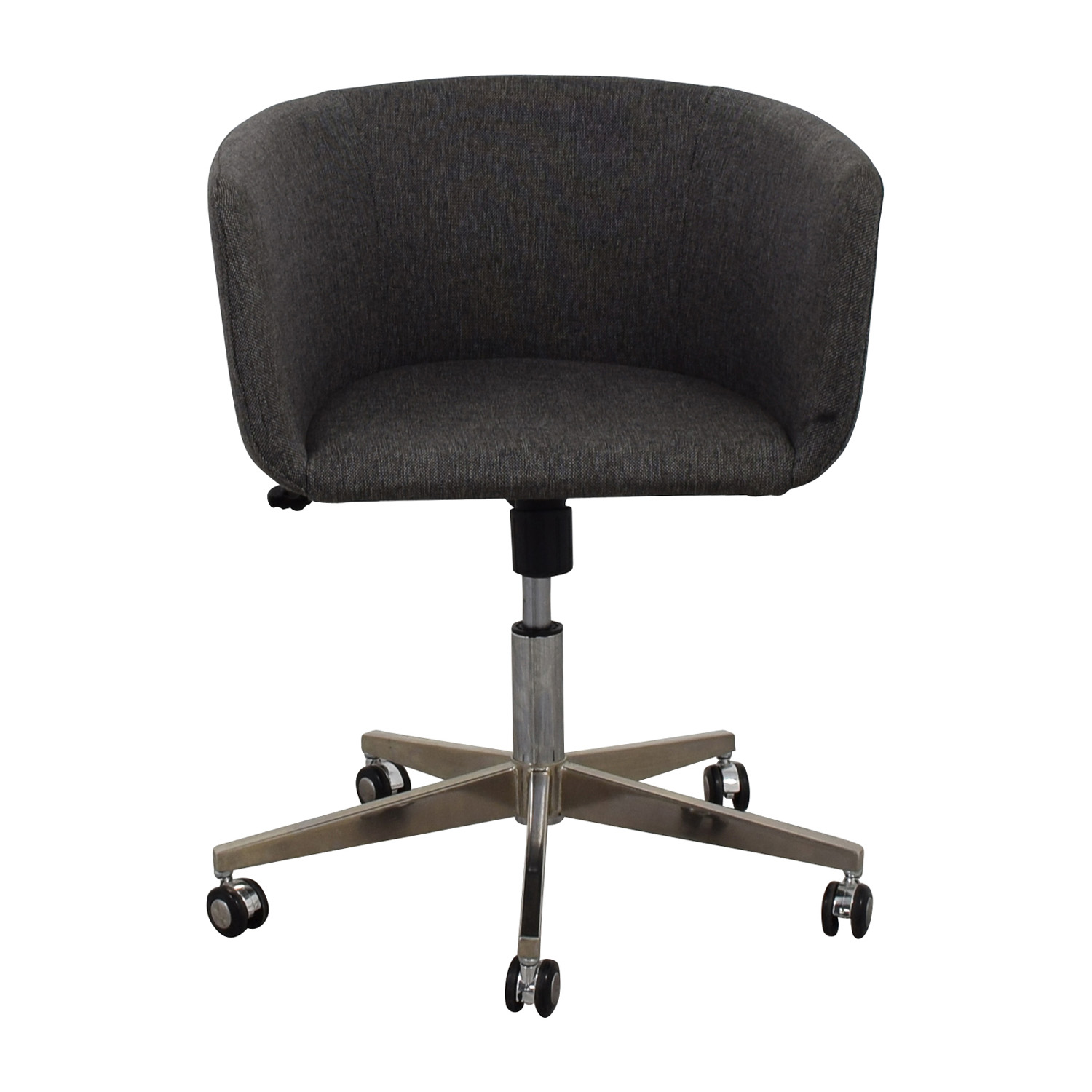 Modern Grey Office Chair with Chrome Wheels nj