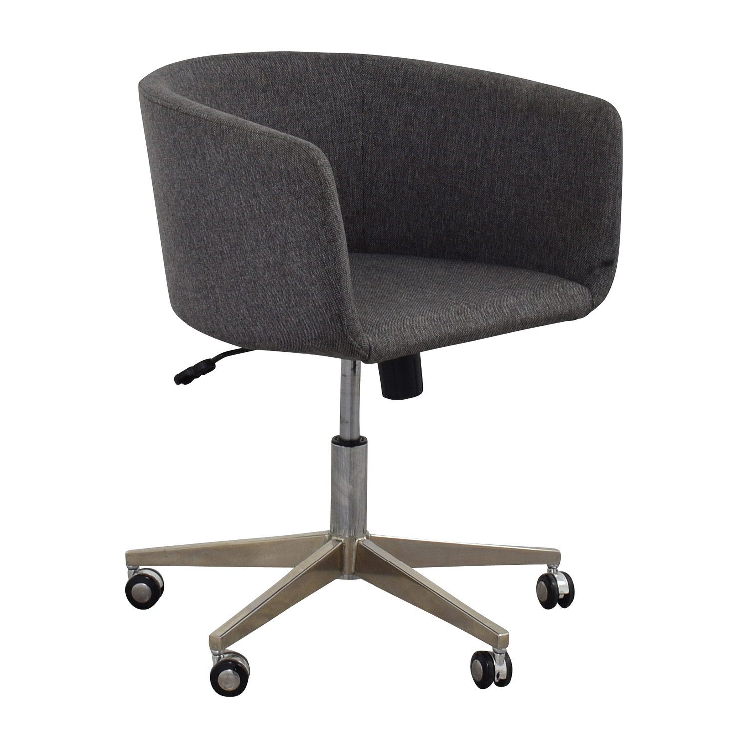 80 off modern grey office chair with chrome wheels chairs. Black Bedroom Furniture Sets. Home Design Ideas