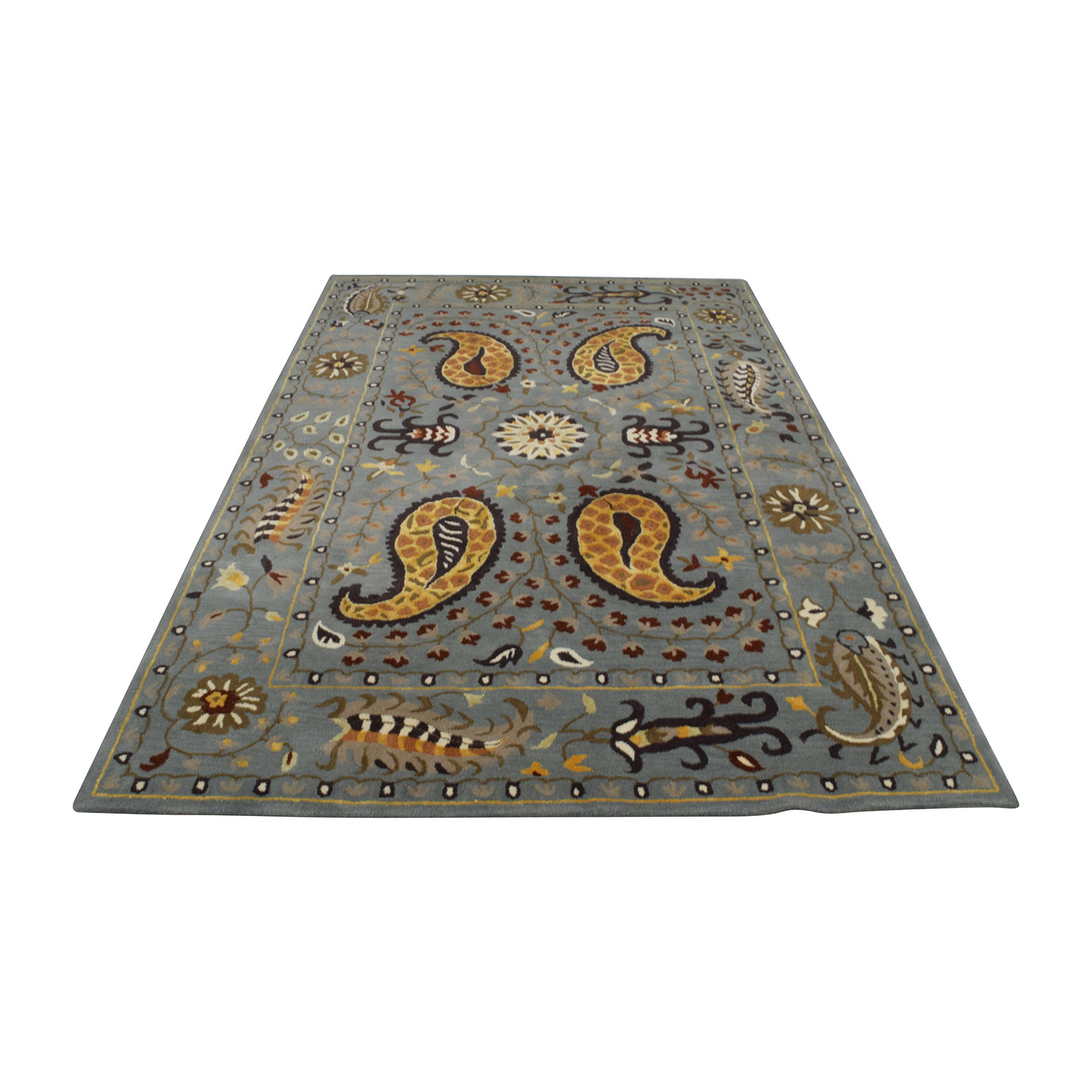 shop Safavieh Pale Blue Wool Rug Safavieh Decor