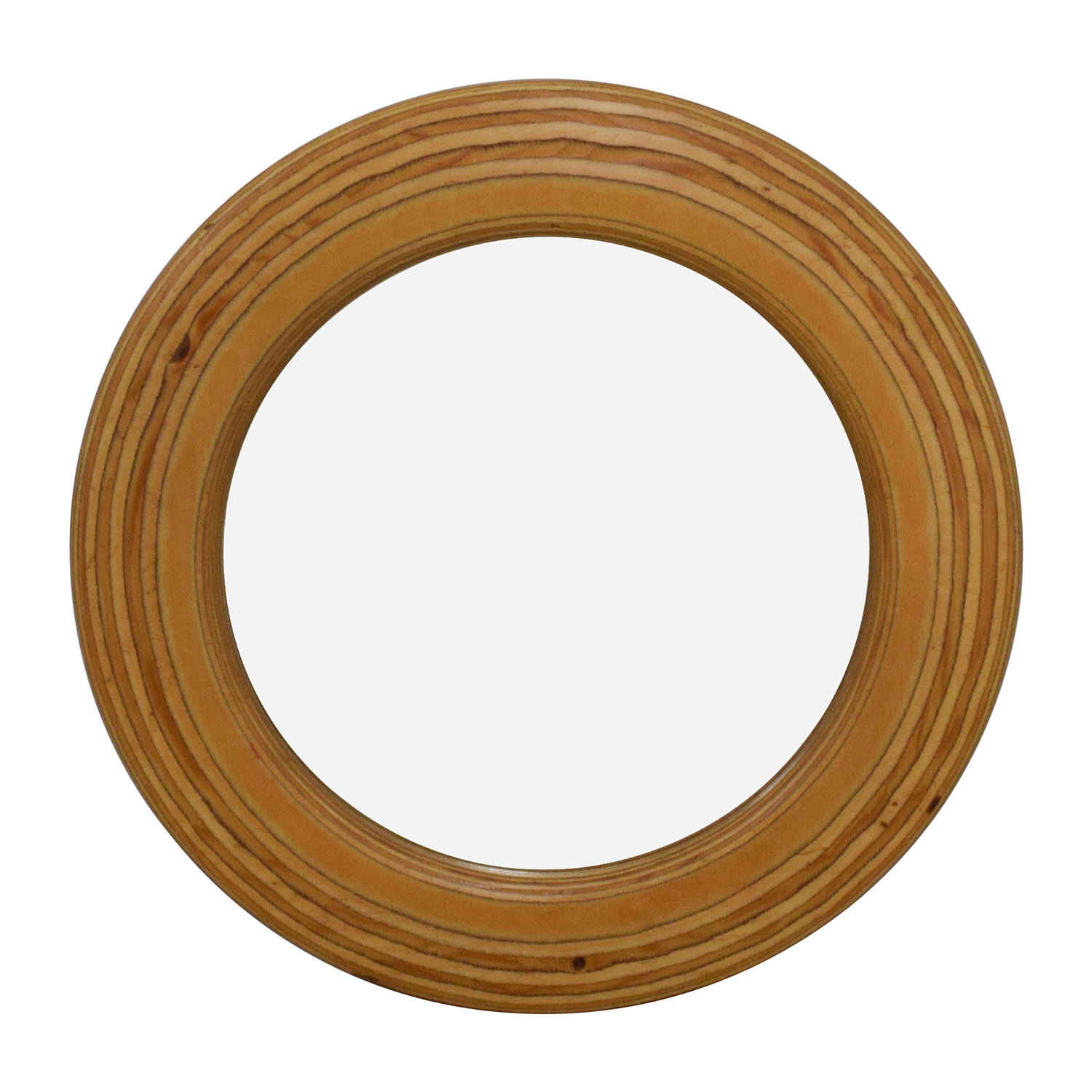 buy Round Rustic 21 Wooden Mirror Decor