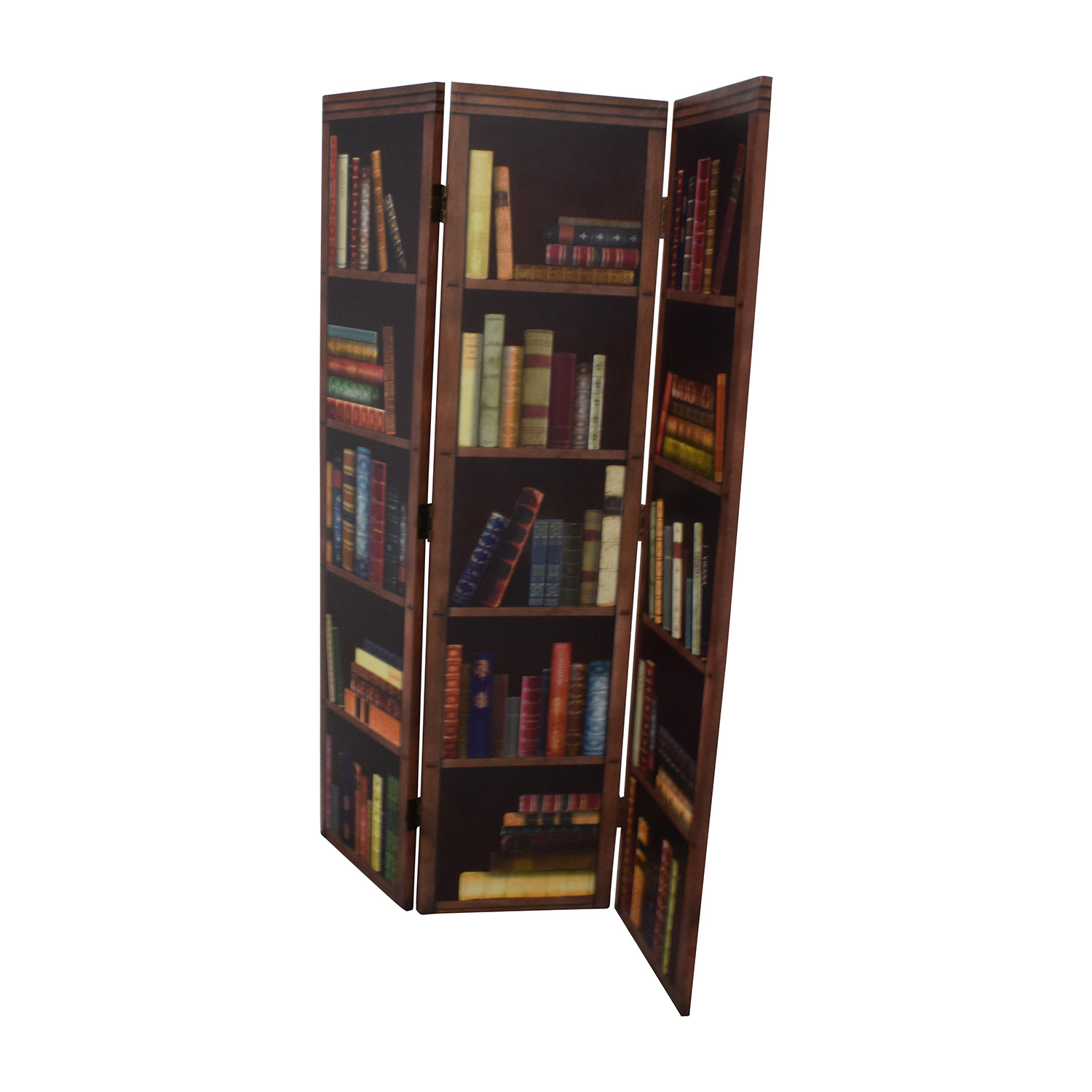 Faux Bookshelf Dividing Screen on sale