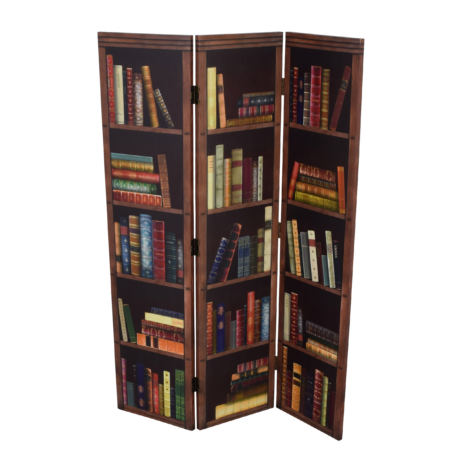 shop Faux Bookshelf Dividing Screen Dividers