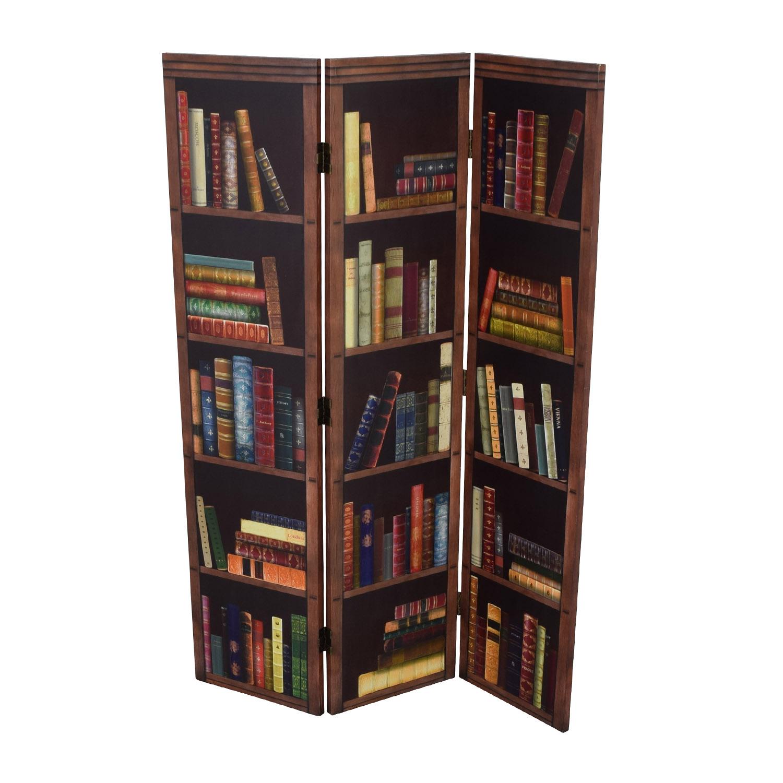 buy Faux Bookshelf Dividing Screen