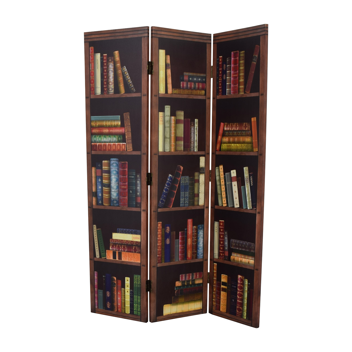 buy Faux Bookshelf Dividing Screen