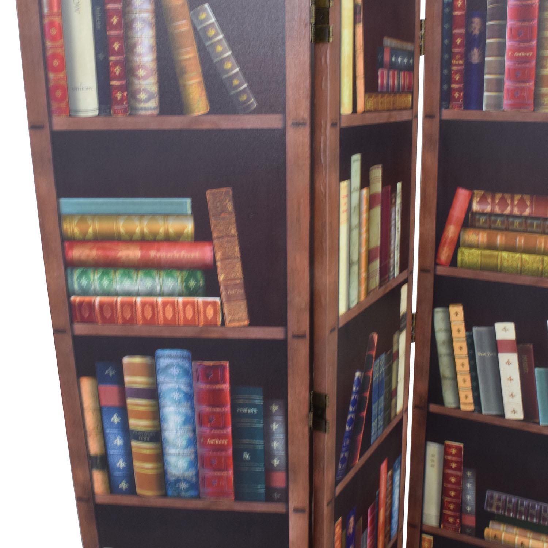 Faux Bookshelf Dividing Screen on sale