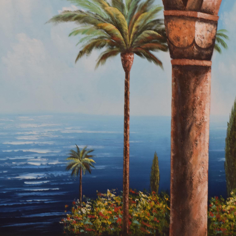 Caribbean Canvas Ocean Painting Multi