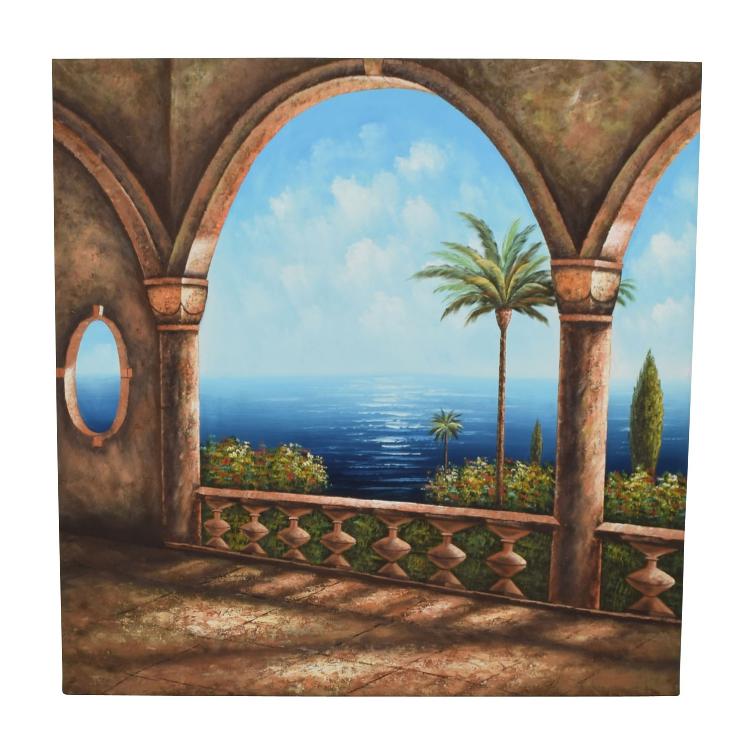 Caribbean Canvas Ocean Painting nj