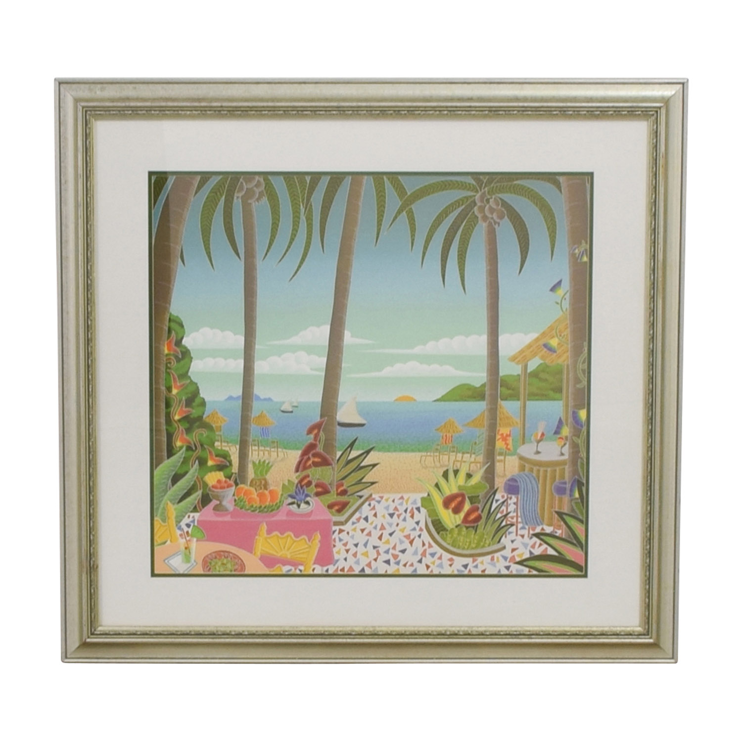 buy Caribbean Seascape with Gold Frame