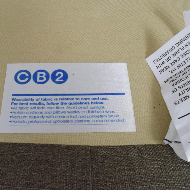 buy CB2 Club Sofa in Brown CB2 Sofas