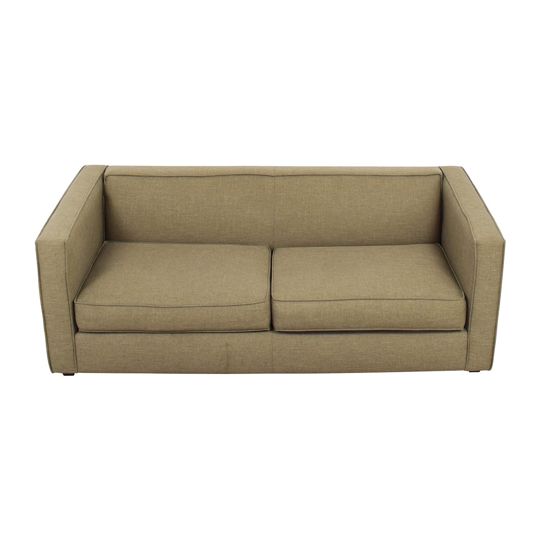 CB2 CB2 Club Sofa in Brown used