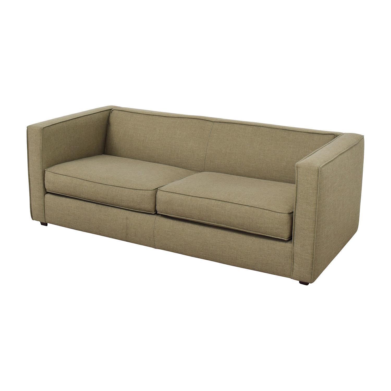 CB2 Club Sofa in Brown sale