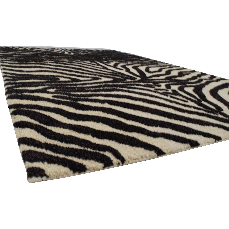 Bashian Zebra Print Area Rug / Rugs