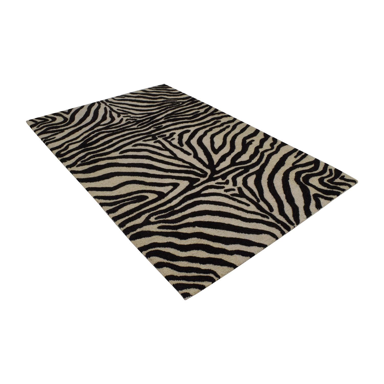 Bashian Bashian Zebra Print Area Rug Decor